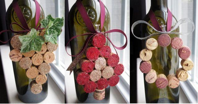 новогодний рождественский декор из винных пробок своими руками