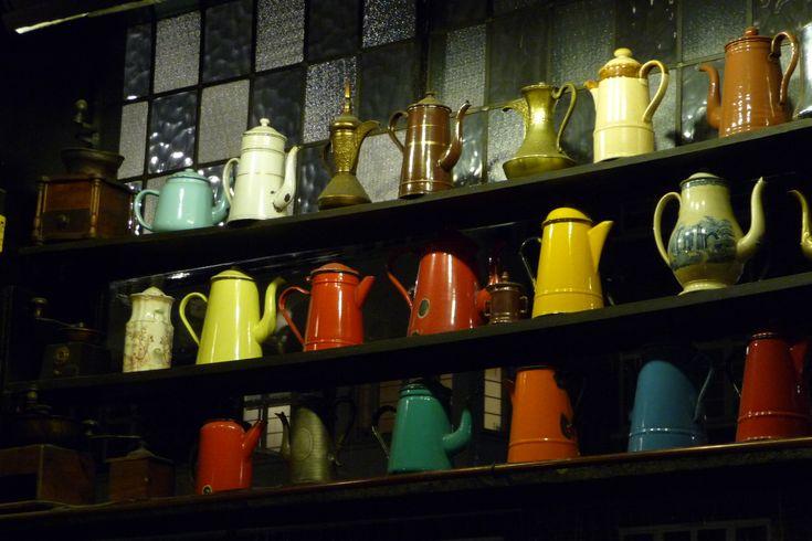 Nice pots. The Troubadour (London).