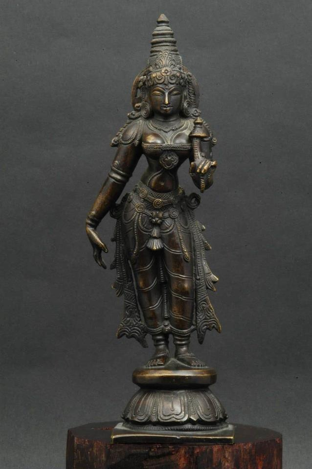 Bronze figure of Laksmi - India 1900. Lakshmi is the Hindu Goddess of wealth, prosperity (both material and spiritual), fortune, and the embodiment of beauty.