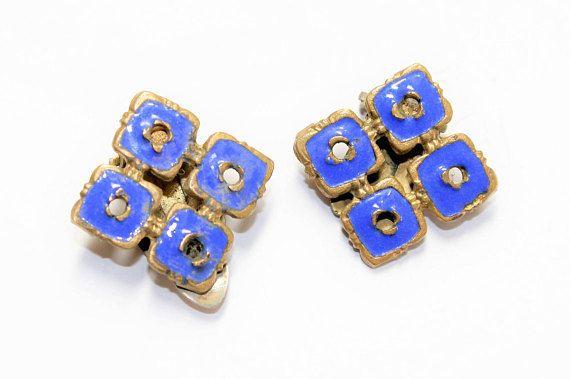 https://www.etsy.com/uk/listing/528640339/blue-enamelled-brass-squares-clip-on