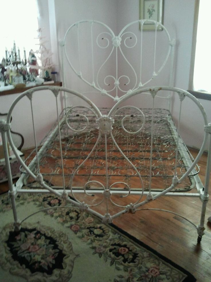 Antique Metal Twin Size Vintage Bed W Rails 034 Restoration Ready