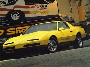 Pontiac Firebird Formula 350 1987 yellow car  Yellow Cars