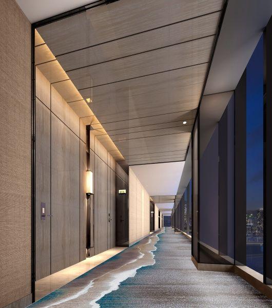 Sea-like Room corridor | hallway | panelling | lighting