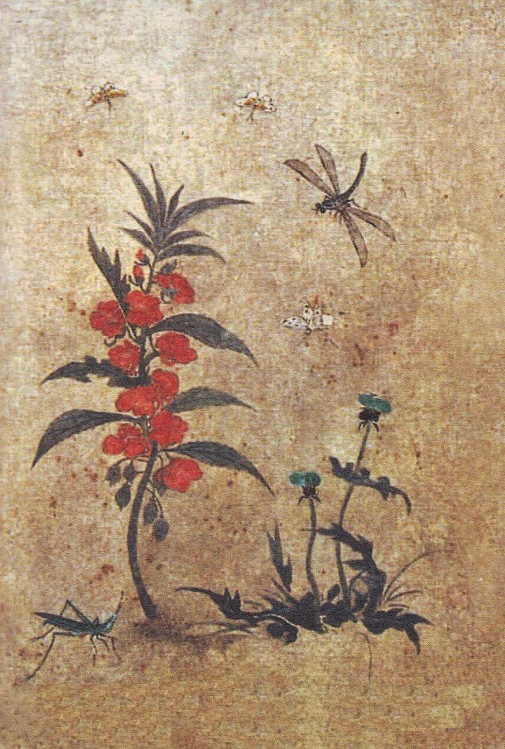 (Korea) by Lady Shin Saimdang (1504-1551). ca 16th century CE. Joseon Kingdom, Korea. colors on paper.