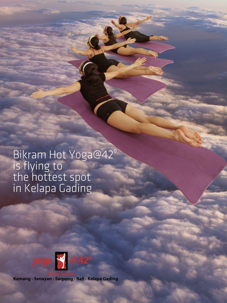 Flying to Kelapa Gading, its getting hotter with oga@42 Bikram Hot Yoga.  @yogajakarta, @yogaklpgading, www.bikramyogajakarta.com