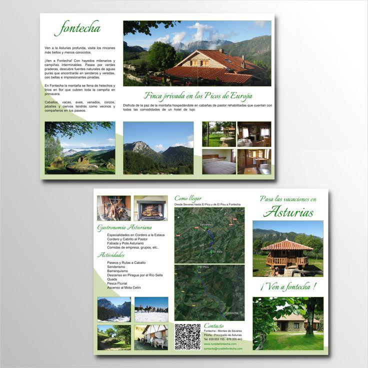 Trípticos promocionales, Casa Rural de Fontecha (Asturias)