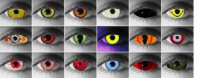 Halloween Contact Lenses and Other Special-Effect Contacts - Tips and Professional Retailers
