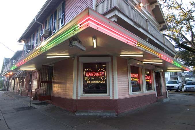 Mandina's on Canal Street. Half loaf fried shrimp po-boys and more.