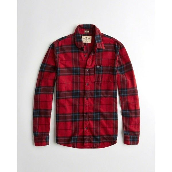 Hollister Stretch Plaid Flannel Shirt ($40) ❤ liked on Polyvore featuring men's fashion, men's clothing, men's shirts, men's casual shirts, red plaid, mens slim fit shirts, mens curved hem t shirt, mens red flannel shirt, mens stretch shirts and mens plaid shirts