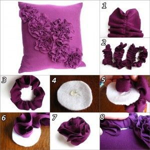 DIY pillow decoration