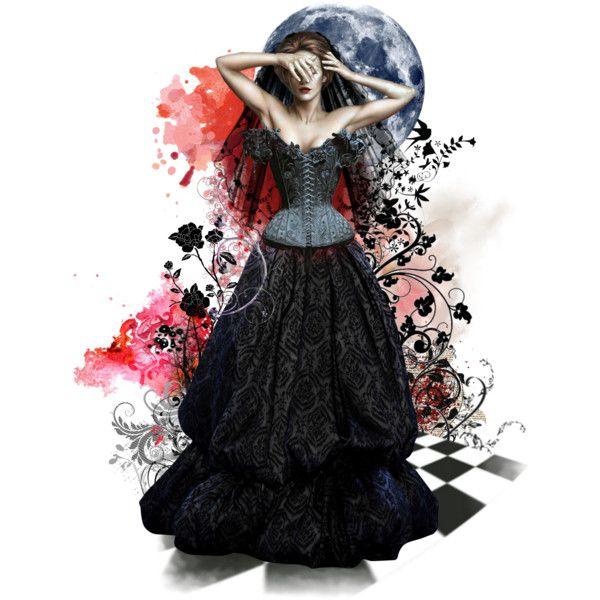 Black Veil Bride by matildaaah on Polyvore featuring art