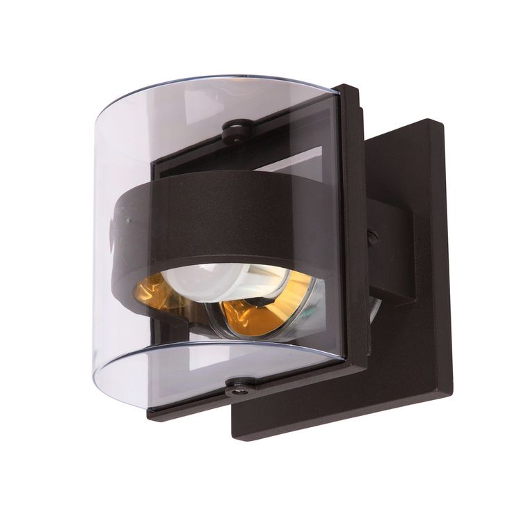 Outdoor Wall Light Fixtures Lowes : Shop Portfolio 6.3-in H Bronze Outdoor Wall Light at Lowes.com Light Makeover Pinterest ...