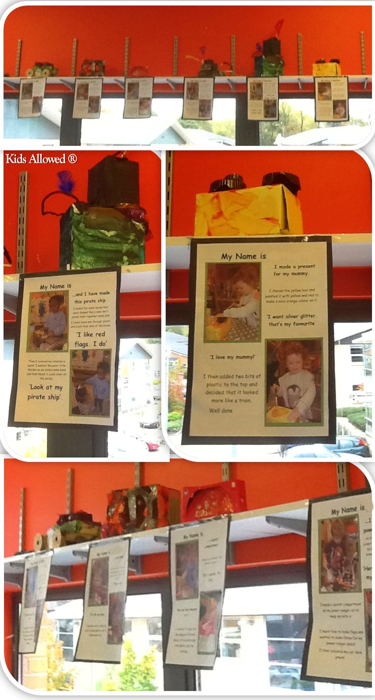 We had a 'junk modelling area' in Preschool which was going unused for the majority of the time, but what we recently decided was to display the children's creations on the shelves, with attached quotes from he children explaining what they did and why. #eyfs #junkmodelling