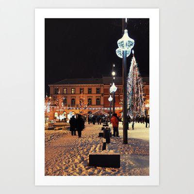 Winter City Art Print by marialivia16 - $14.04
