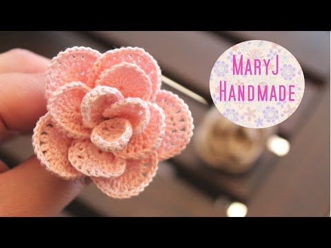 Rosa all'uncinetto | Crochet flower SUB EN - YouTube