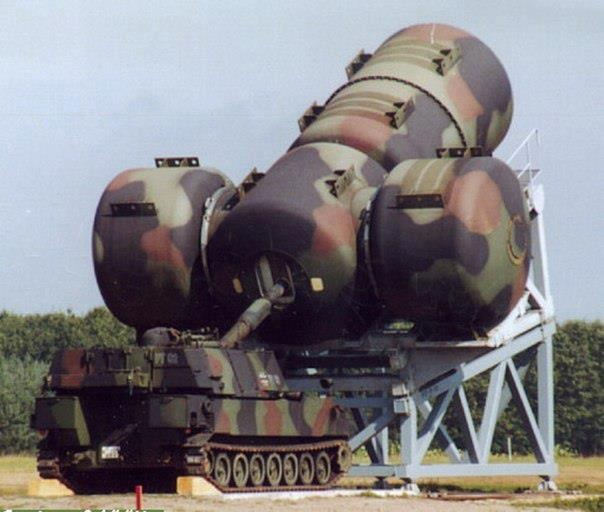 The vehicle pictured is the M109G 155mm self-propelled howitzer.Worlds Largest Gun Suppressor.