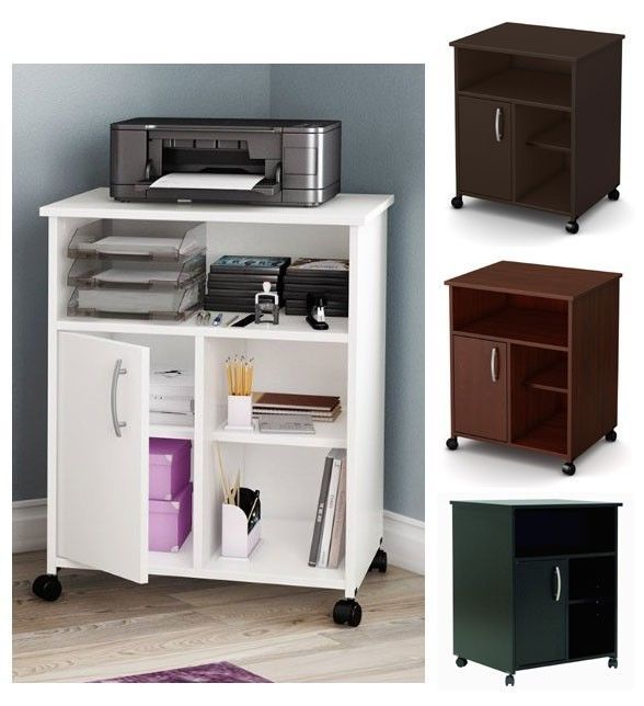 Contemporary Home Office Printer Stand Paper Organizer Storage Table Shelf Cart In 2018 Printers