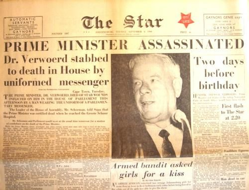 This Day in History: Sep 6, 1966: Architect of apartheid assassinated