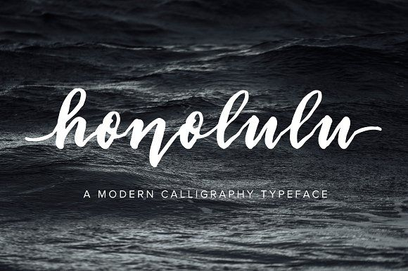 Honolulu | Modern Calligraphy Font by Jen Wagner Co on @creativemarket