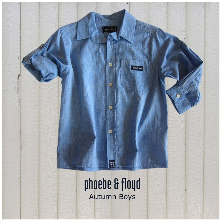 Chambray Blue Long Sleeve Roll Up Shirt