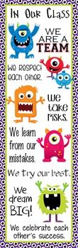 Character Education Banner - IN OUR CLASS ...Decorate your classroom with this bright, colorful MONSTERS banner. This purchase includes one JPEG image which you can upload and print on a vinyl banner. Step-by-step instructions for uploading this image to Vistaprint.com are provided; however, it can also be printed at other places like Staples and Office Max.