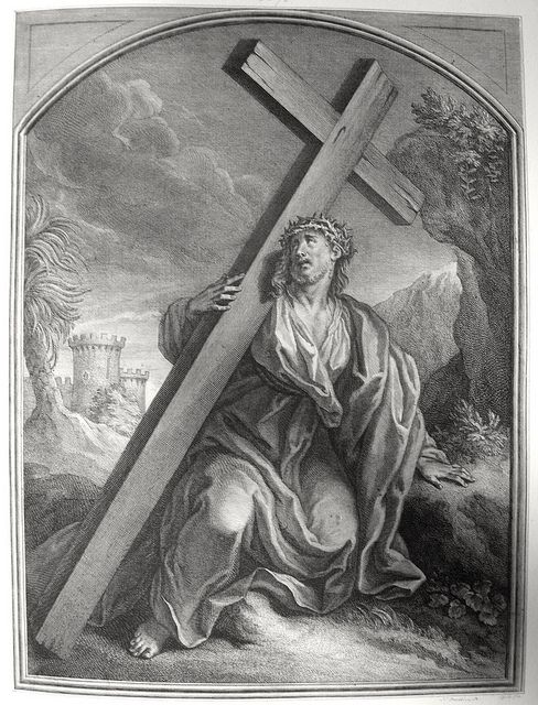 Phillip Medhurst presents John's Gospel: Bowyer Bible print 5578 Jesus bears his cross John 19:17 Tardieu on Flickr. A print from the Bowyer Bible, an extra-illustrated edition of Macklin's Bible in...
