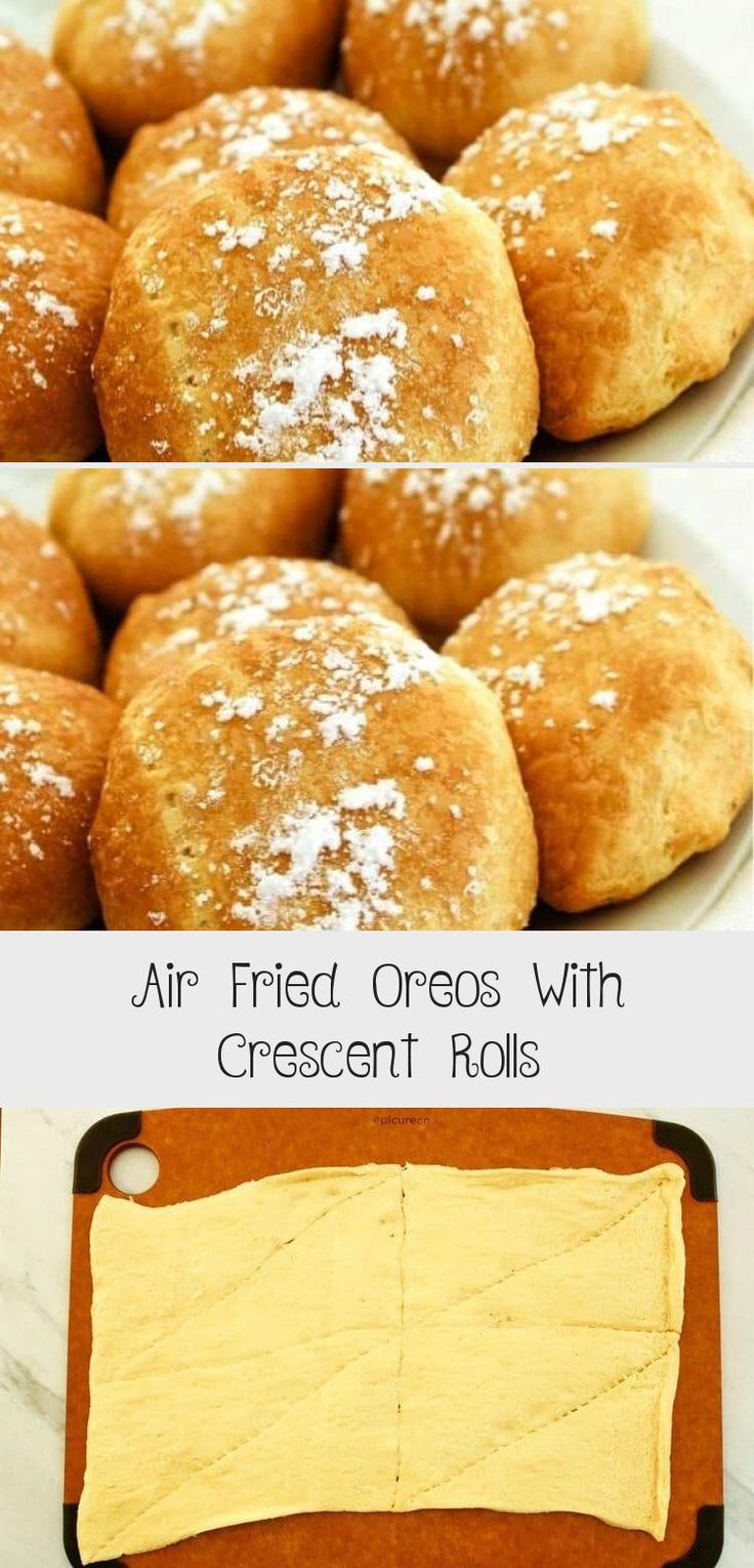 Air Fried Oreos With Crescent Rolls in 2020 Crescent