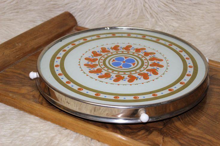 Vintage Tortenplatten - Omas drehbare Tortenplatte Glas  Vintage shabby - ein Designerstück von Manuelas-Allerlei-Shop bei DaWanda