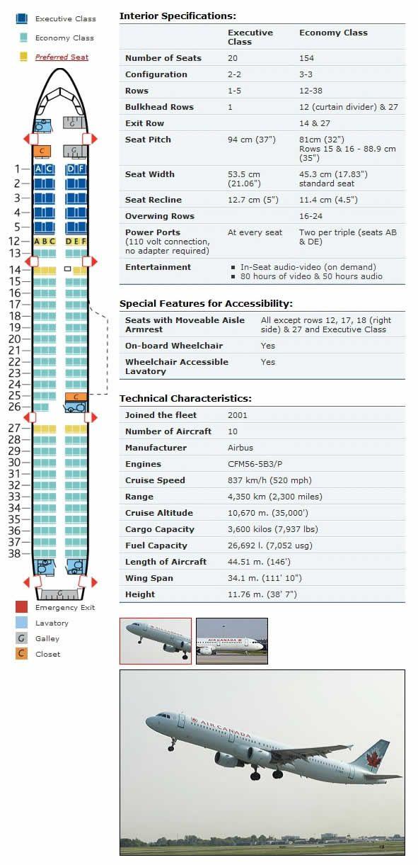 air canada airbus a321-200 seat chart