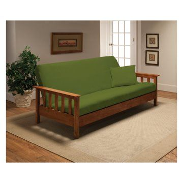 Additional slipcover for couch Madison Industries Solid Jersey Full Futon Cover - Futon Covers at Hayneedle
