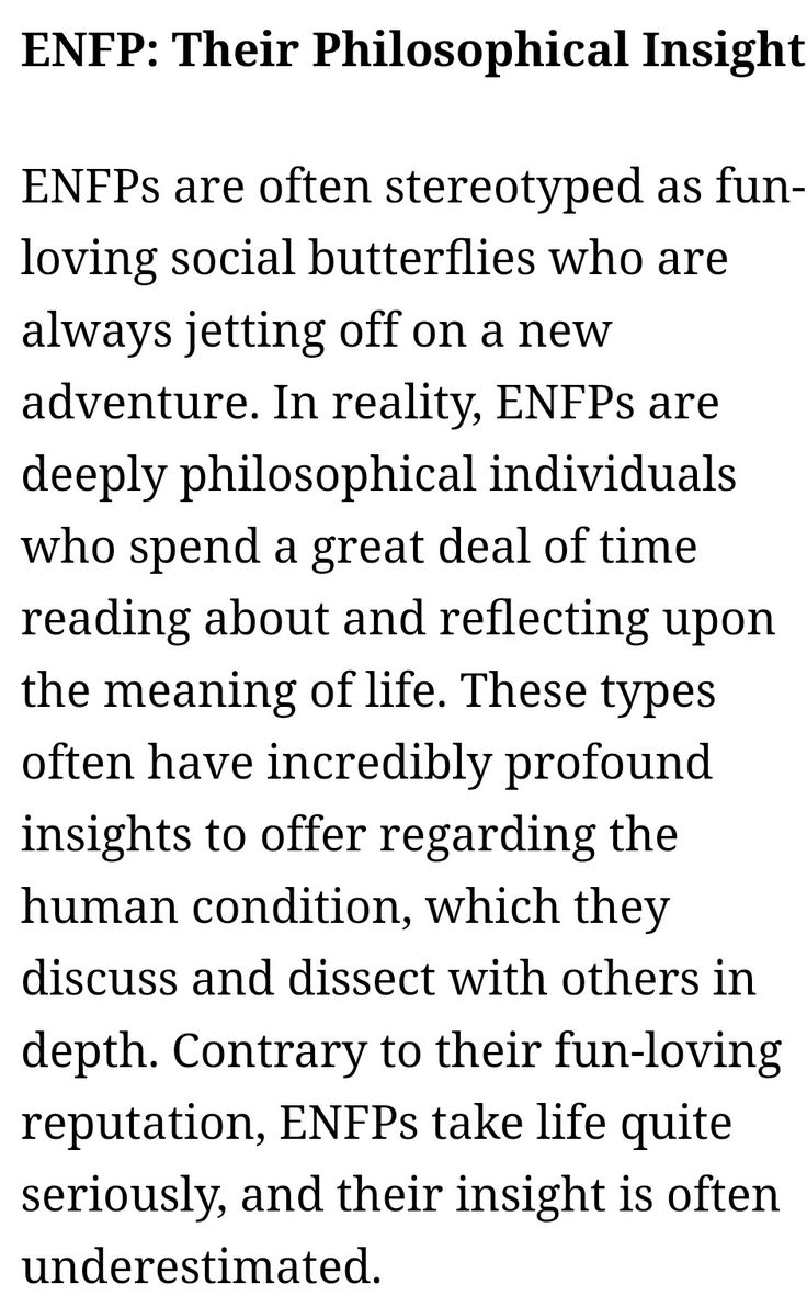 ENFP - Their Philosophical Insight