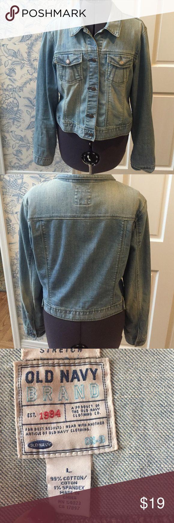 Old Navy light wash denim jacket size L Old Navy light wash denim jacket. Size L. Old Navy Jackets & Coats Jean Jackets