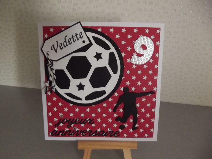 """Carte d'anniversaire"""" FOOT étoiles"""" anniversaire, anniversaire ,invitation, remerciement,bon rétablissement : Cartes par coco-et-ses-creations"""