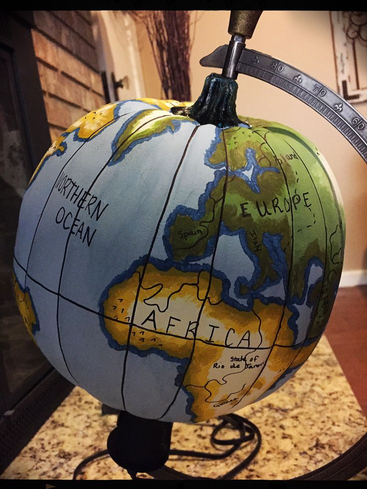 earth old world painted pumpkin