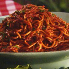 Neely's BBQ Spaghetti in Memphis... never had this before but definitely going to try it!