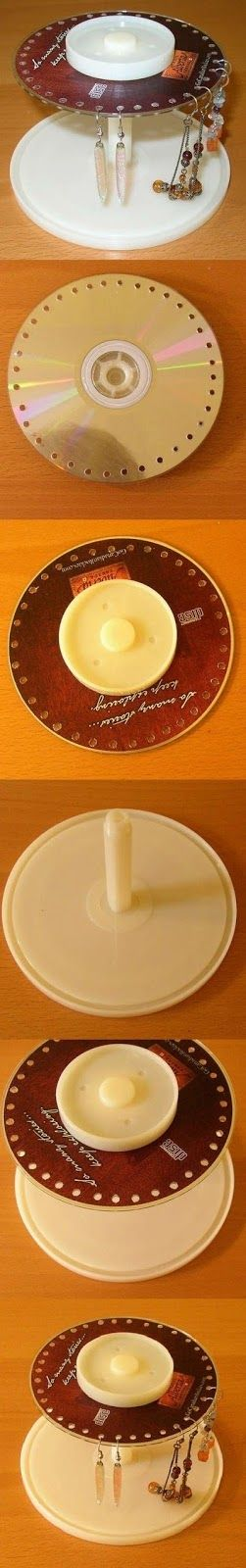 para colgar pendientes CD