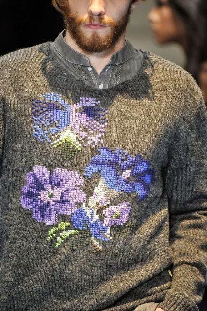 Dziana Moda: Haftowane swetry dla facetów