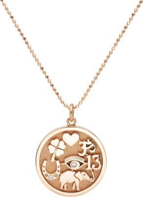 Jennifer Meyer Good Luck Charm Pendant Necklace