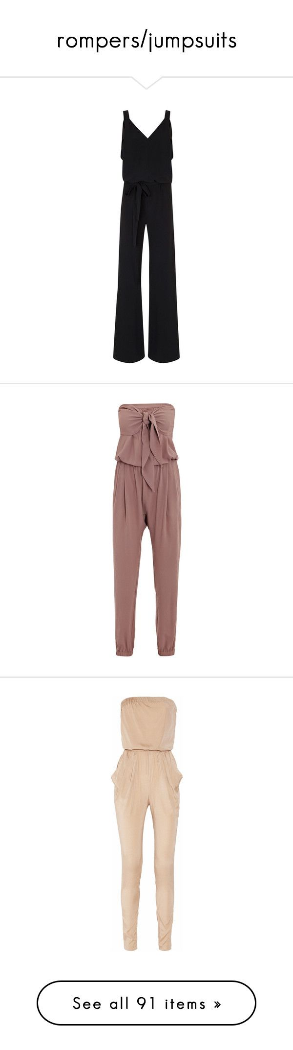"""rompers/jumpsuits"" by missy-smallen ❤ liked on Polyvore featuring jumpsuits, black, jumpsuit, black jump suit, jump suit, maria grachvogel, crepe jumpsuit, jumpsuits & rompers, rompers and pants"