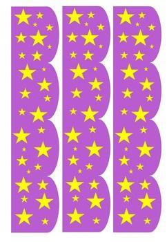 STAR BULLETIN BORDER- RED, ORANGE, BLUE, GREEN, PURPLE, PINK - TeachersPayTeachers.com