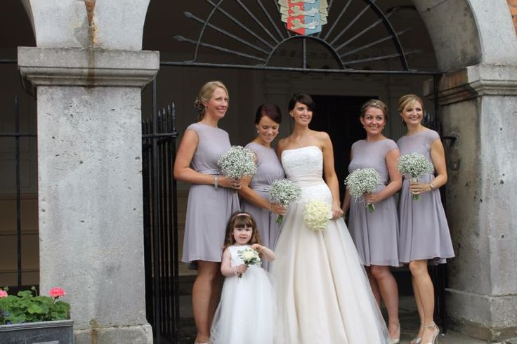 Pale Grey bridesmaid dresses from Coast