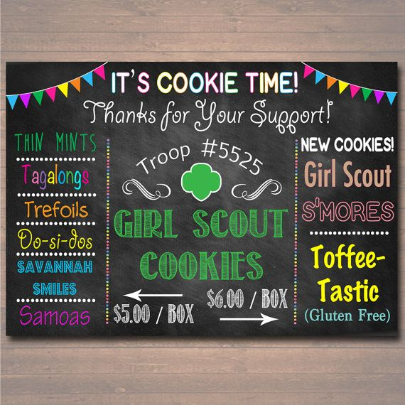 CUSTOM Girl Scouts Cookie Booth Sign, DIGITAL FILE, Girl Scouts Leader, Girl Scouts Cookie Banner, Brownies, Daisies, Girl Scout Printables