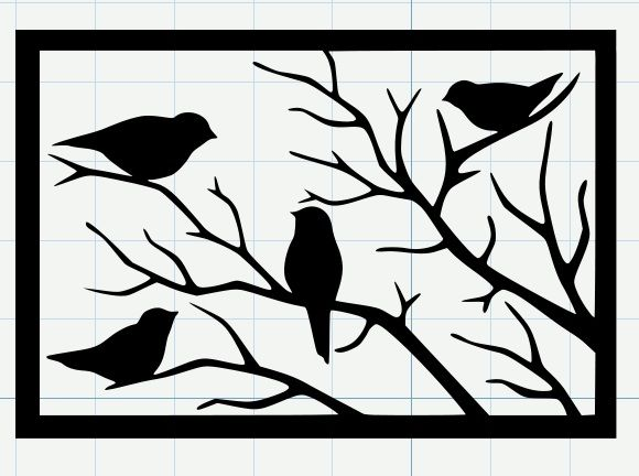 Michelle's Adventures with Digital Creations: Birds on a Branch