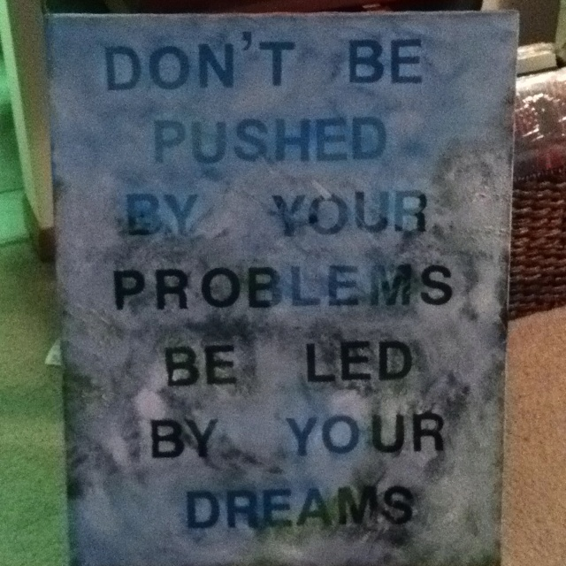 Canvas wall art .. Got a canvas painting at a thrift store, used stick on letters to write a saying, painted over with white acrylic paint.Quotes Funny, Canvas Paintings, Canvas Wall Art