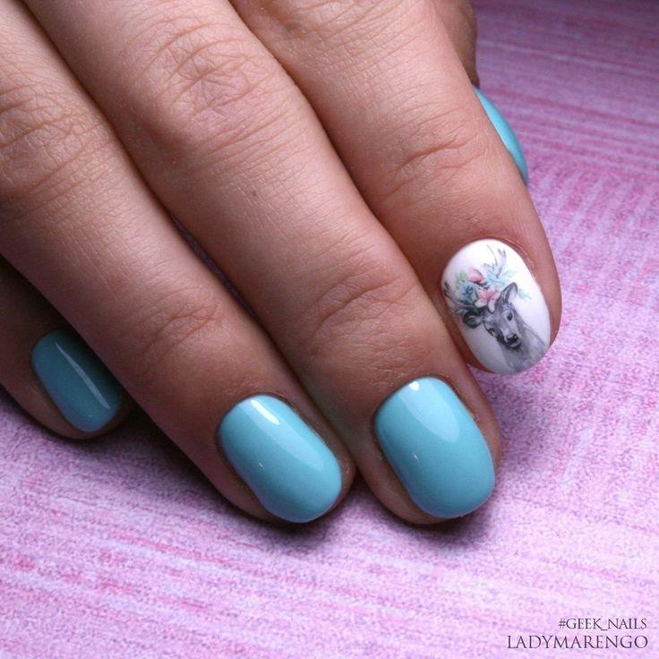 #geeknails #ladymarengo #шеллак #гельлак #нейларт #ногти #маникюр #дизайнногтей #nailart #naildesign #deer