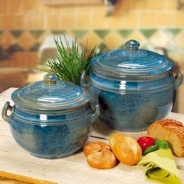 Brottopf mit Deckel, Keramik Brotbehälter zur Brotaufbewahrung auch für Brötchen, spülmaschinenfestes Steingut, rund, Höhe 25/30 cm, ø 25/29 cm