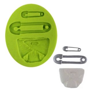 SILICONE MOULD - NAPPY AND NAPPY PIN