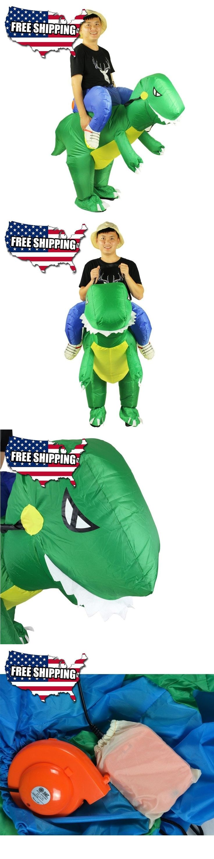 Unisex 86207: Wecloth Halloween Costume Inflatable Ride Green Bluered Dinosaur Unicorn T-Rex H -> BUY IT NOW ONLY: $30.43 on eBay!