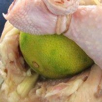 Galeto assado com limão