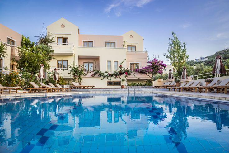 Swimming Pool Oscar Suites & Village hotel, Agia Marina, Chania, Crete, Greece